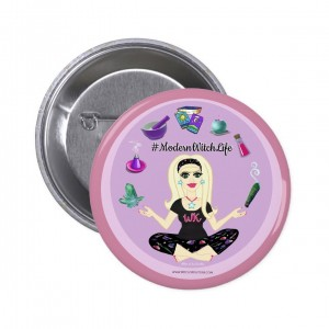 Allie Stars #ModernWitch Life Pink 2 in. Button
