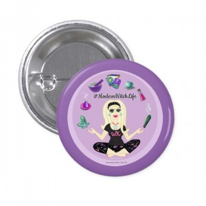Allie Stars #ModernWitch Life Purple 1 in. Button