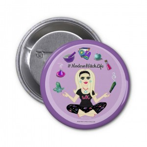 Allie Stars #ModernWitch Life Purple 2 in. Button