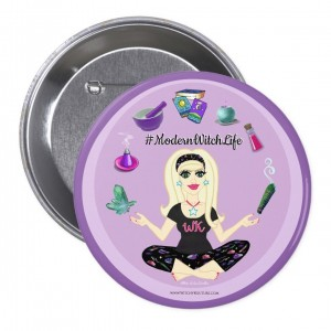 Allie Stars #ModernWitch Life Purple 3 in. Button