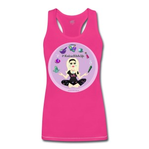 Allie Stars & Witchy Tools #ModernWitchLife - Bamboo Racerback Performance Tank Fuchsia