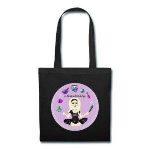 Allie Stars & Witchy Tools #ModernWitchLife - Canvas Tote Black