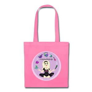 Allie Stars & Witchy Tools #ModernWitchLife - Canvas Tote Pink