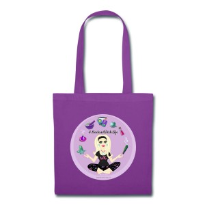 Allie Stars & Witchy Tools #ModernWitchLife - Canvas Tote Purple