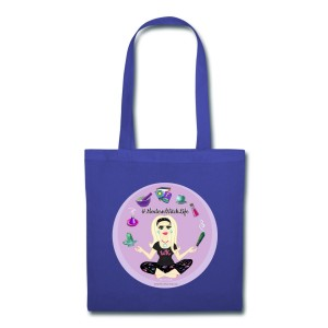 Allie Stars & Witchy Tools #ModernWitchLife - Canvas Tote Royal Blue