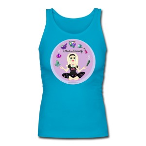 Allie Stars & Witchy Tools #ModernWitchLife - Longer Length Fitted Tank Blue