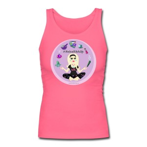 Allie Stars & Witchy Tools #ModernWitchLife - Longer Length Fitted Tank Pink
