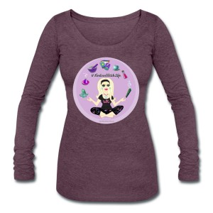 Allie Stars & Witchy Tools #ModernWitchLife - Scoop Neck Long Sleeve Purple