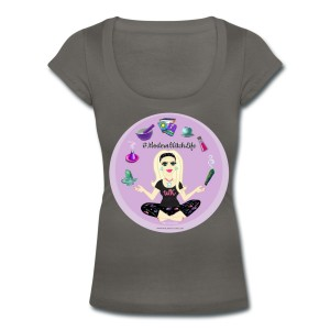 Allie Stars & Witchy Tools #ModernWitchLife - Scoop Neck T-shirt Grey