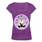 Allie Stars & Witchy Tools #ModernWitchLife - Scoop Neck T-shirt Purple