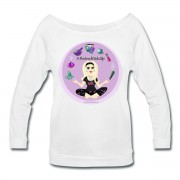Allie Stars & Witchy Tools #ModernWitchLife - Wide Neck 3/4 Sleeve T-shirt White