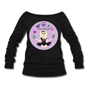 Allie Stars & Witchy Tools #ModernWitchLife - Wide Neck Slouchy Sweatshirt Black