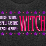 Herb Picking, Spell Casting, Card Reading WITCH - Scoop Neck Long Sleeve Black