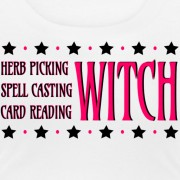 Herb Picking, Spell Casting, Card Reading WITCH - Scoop Neck T-shirt White