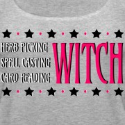 Herb Picking, Spell Casting, Card Reading WITCH - Scoop Neck Tank Heather Gray