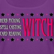 Herb Picking, Spell Casting, Card Reading WITCH - Scoop Neck Tank Purple