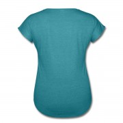 Herb Picking, Spell Casting, Card Reading WITCH - V-Neck T-shirt Turquoise