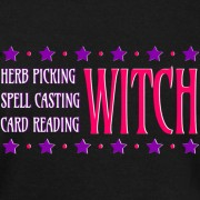 Herb Picking, Spell Casting, Card Reading WITCH - Wideneck Slouchy Sweatshirt Black