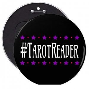 #Tarot Reader Black 6 in. Button