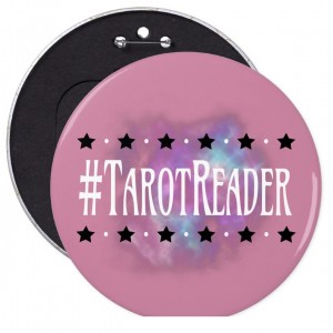 #Tarot Reader Pink 6 in. Button