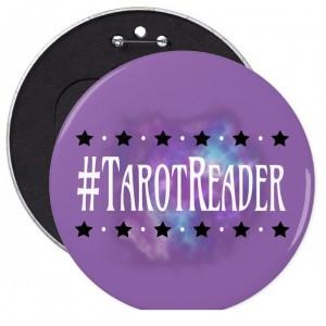 #Tarot Reader Purple 6 in. Button