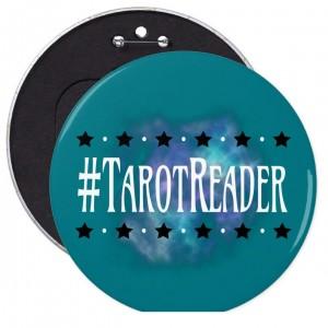 #Tarot Reader Teal 6 in. Button