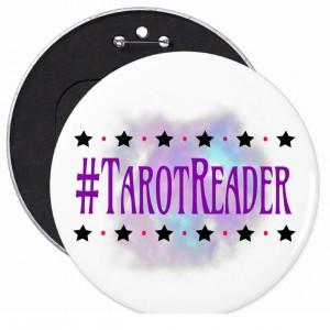 #Tarot Reader White 6 in. Button