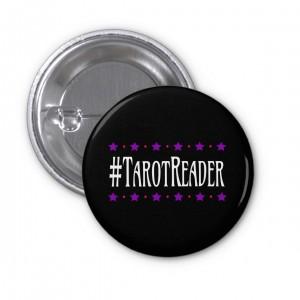 #TarotReader Black 1 in. Button