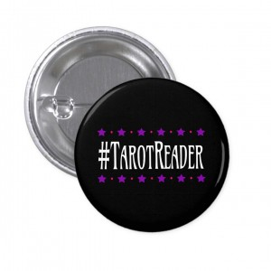 #TarotReader Black 2 in. Button