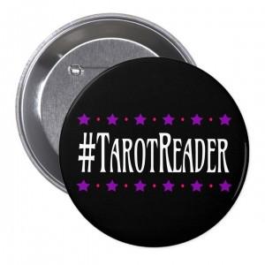 #TarotReader Black 3 in. Button