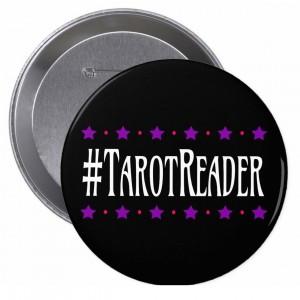 #TarotReader Black 4 in. Button