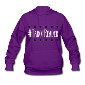 #TarotReader - Long Sleeve Hoodie Sweatshirt Purple