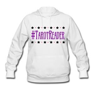 #TarotReader - Long Sleeve Hoodie Sweatshirt White