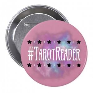#TarotReader Pink 3 in. Button