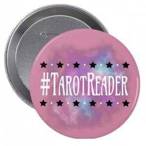 #TarotReader Pink 4 in. Button