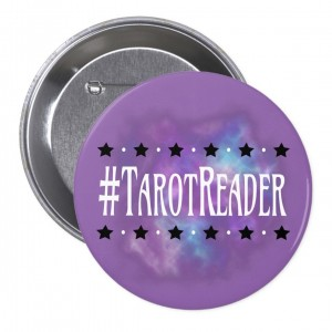 #TarotReader Purple 3 in. Button