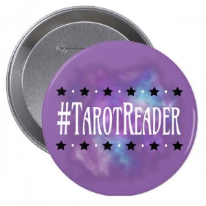 #TarotReader Purple 4 in. Button