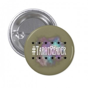 #TarotReader Taupe 1 in. Button