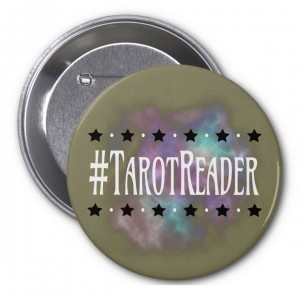 #TarotReader Taupe 3 in. Button