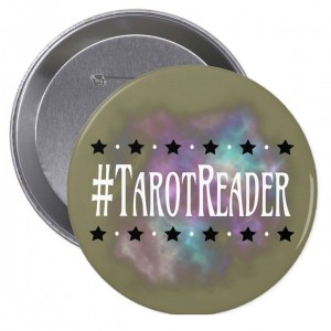 #TarotReader Taupe 4 in. Button