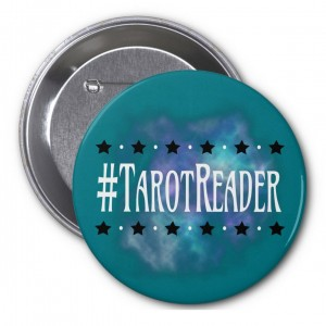 #TarotReader Teal 3 in. Button