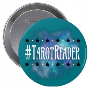 #TarotReader Teal 4 in. Button