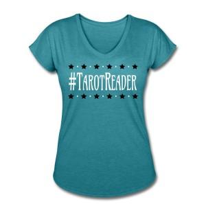 #TarotReader - V-neck T-shirt Turquoise