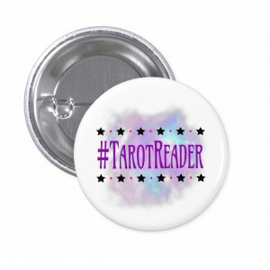 #TarotReader White 1 in. Button
