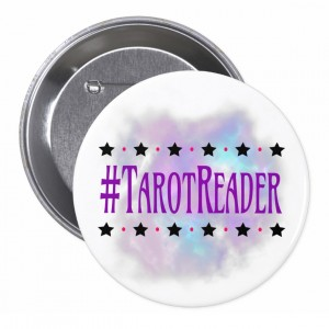 #TarotReader White 3 in. Button