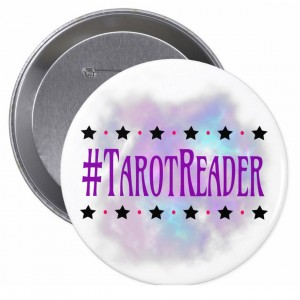 #TarotReader White 4 in. Button
