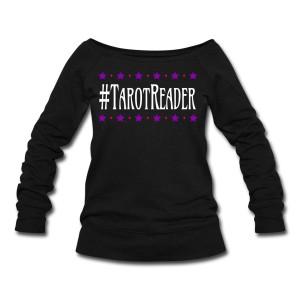 #TarotReader - Wide Neck Slouchy Sweatshirt Black