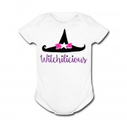 Witch Hat Witchilicious - Baby Short-Sleeve One Piece White