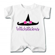 Witch Hat Witchilicious - Baby T-shirt Romper White