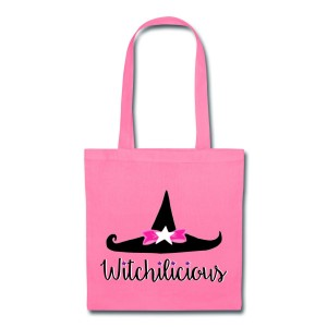 Witch Hat Witchilicious - Canvas Tote Pink